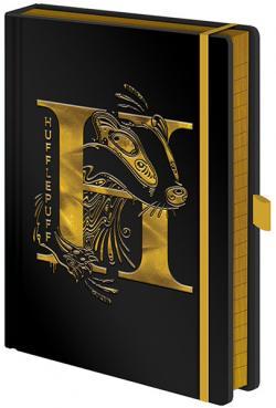 Harry Potter Premium Notebook A5 Hufflepuff Foil