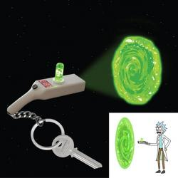 Rick and Morty Portal Gun Keyring Light