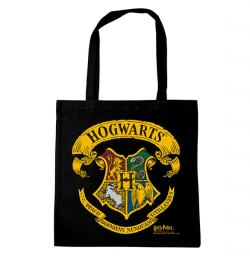 Harry Potter Hogwarts Logo Tote Bag Black