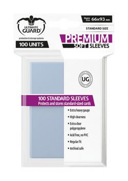 Premium Soft Sleeves Standard Size Transparent (100)