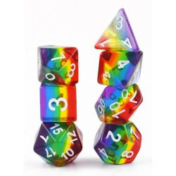 Rainbow (set of 7 dice)