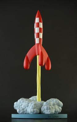 Samlarfigur - Raket lyfter