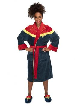 Captain Marvel Fleece Bathrobe