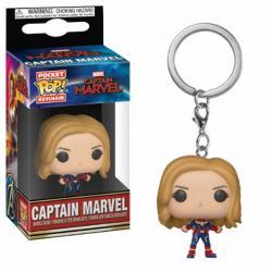 Captain Marvel Unmasked Pop! Vinyl Figure Keychain