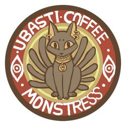 Monstress Ubasti Coffee Pin