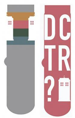 Tardis Grey & Pink Socks 2-Pack