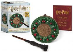 Kit: Harry Potter - Hogwarts Christmas Wreath and Wand Set