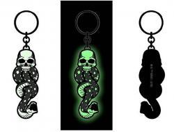 Harry Potter Metal Keychain Dark Mark Tattoo Glow in the Dark