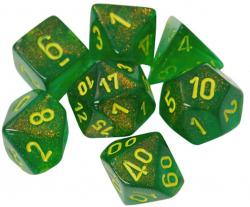Borealis Maple Green/Yellow (set of 7 dice)