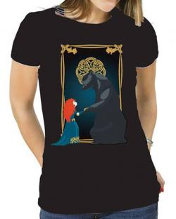 Brave Ladies T-Shirt Merida & Bear