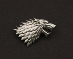 Pin Badge House Stark