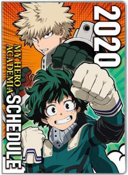 My Hero Academia schedule diary 2020