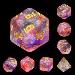 Luminous Ruby (set of 7 dice)