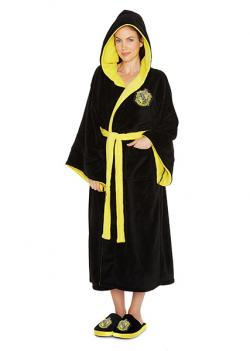Harry Potter Hufflepuff Ladies Hooded Bathrobe
