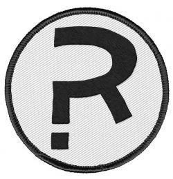 Patch The Rumor R Logo 6 cm