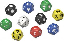 Fallout Dice Set (Wasteland Warfare 9d12s & 1d20)