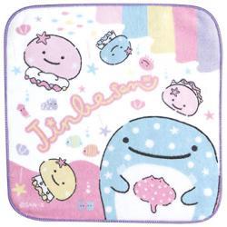 JinbeSan Mini Towel: Colourful Jellyfish