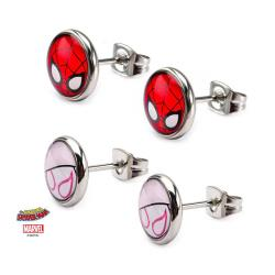 Spider-Man Earrings Set with Spider-Gwen