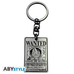 Wanted Luffy Keychain