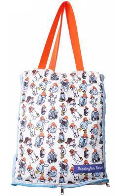 Foldable Shopper Bag Paddington Pattern