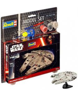 Model Kit 1/241 Model Set Millennium Falcon 10 cm