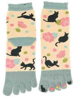 Five-toe Socks Yumemi Neko (Dream Cat)