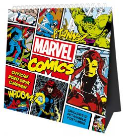 Marvel Comics 2020 Desk Easel Calendar with Postcards