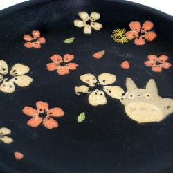 Totoro Ceramic Plate Black