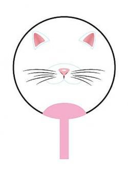 Transparent Face Fan Cat