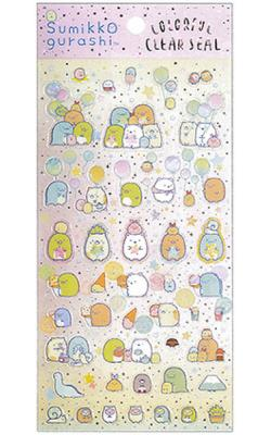 Sumikkogurashi Stickers: Colorful Clearseal