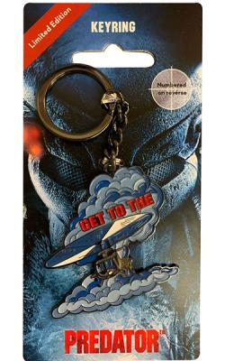 Predator Metal Keychain Get To The