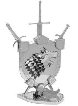 MetalEarth House Stark Sigil 3D Metal Model Kit