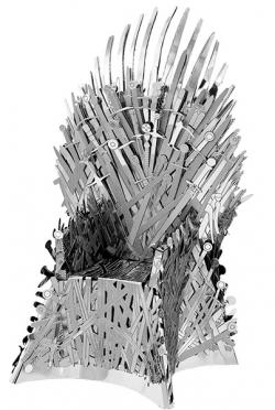 MetalEarth House Iron Throne 3D Metal Model Kit