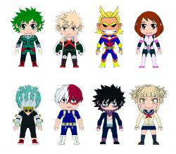 My Hero Academia 3-inch Kawaii Titans Mini Figures