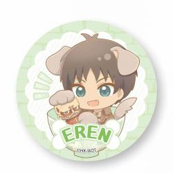 Eren Yeager Wanko Meshi Can Badge