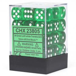 Translucent Green With White Dice Block (36d6)