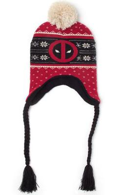 Deadpool Ski Beanie Red Badge Xmas Laplander