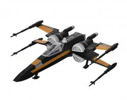 Model Kit with Sound & Light Up Poe's Boosted X-Wing Fighter