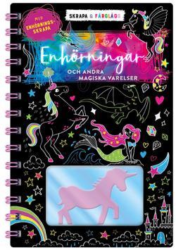Skrapa & färglägg: Enhörningar och andra magiska djur