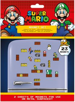 Super Mario Fridge Magnets Mushroom Kingdom