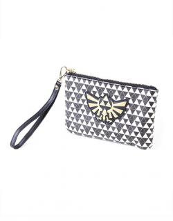 Coin Purse/Make Up Bag Zelda Black & White