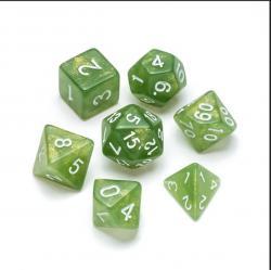 Glitter Green - Numbers: White