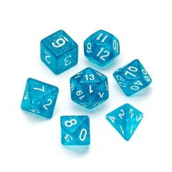 Glitter Light Blue - Numbers: White