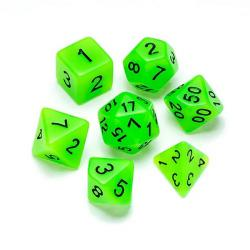 Fluorescent Green - Numbers: Black