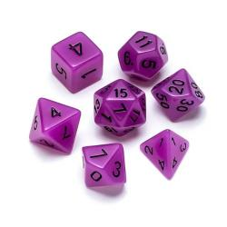 Fluorescent Purple - Numbers: Black
