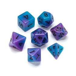 Fluorescent Blue & Purple - Numbers: Black