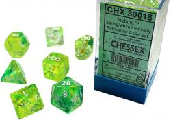Nebula Spring/White Luminary (set of 7 dice)