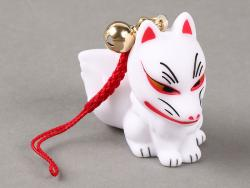 Kitsune Charm Sitting (White Fox)