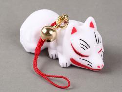 Kitsune Charm Sleeping (White Fox)
