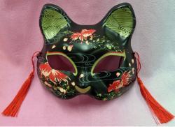 Half Mask Neko (Three Goldfish Cat)